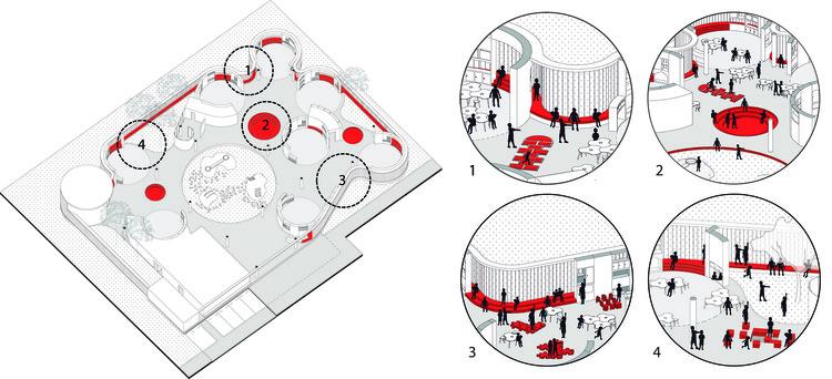 Circulación activa. Image Cortesia de FP arquitectura