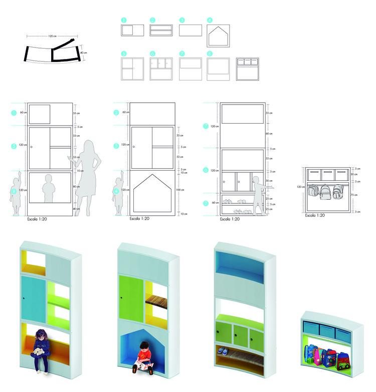Mobiliario fijo. Image Cortesia de FP arquitectura