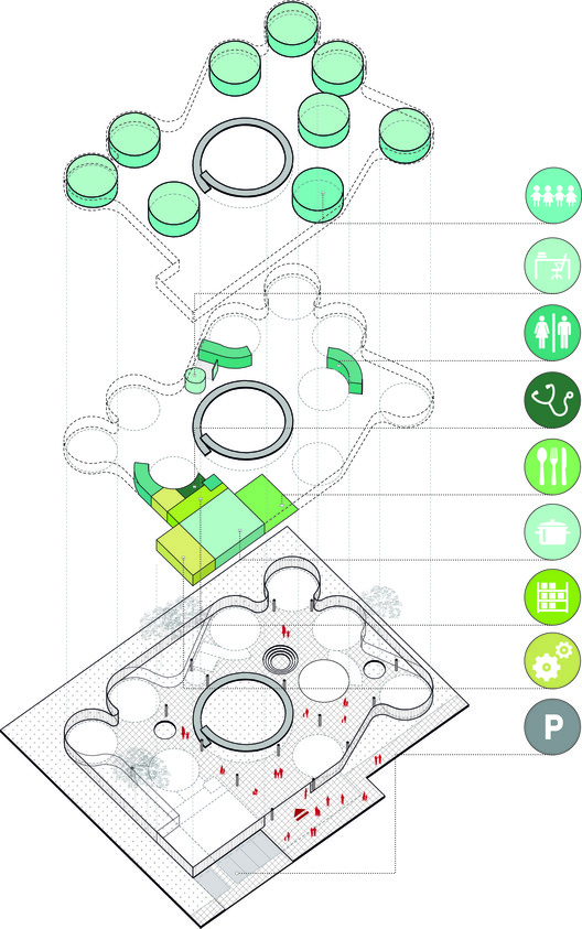 Programa. Image Cortesia de FP arquitectura