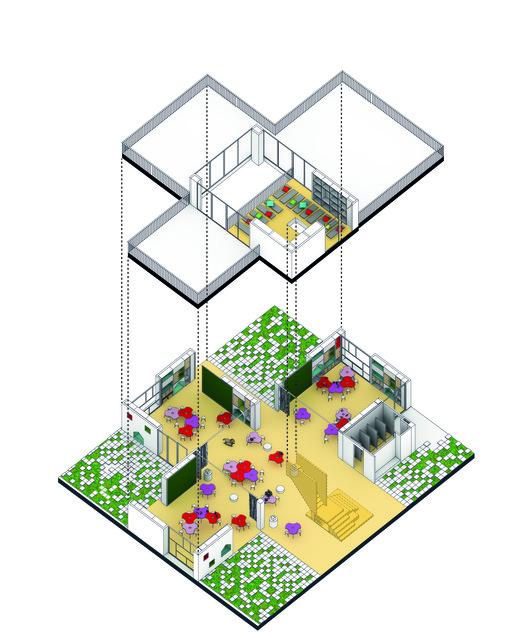 Ambiente de aprendizaje: preescolar. Image Cortesia de FP arquitectura
