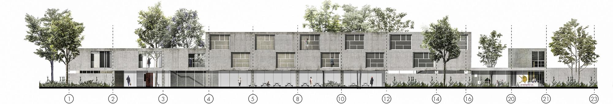 Galer a de fp arquitectura cuarto lugar en concurso - Alzado arquitectura ...