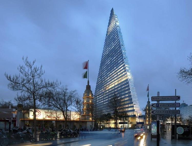"""Paris Approves Plans to Build Herzog & de Meuron's """"Triangle Tower"""", © Herzog & de Meuron"""