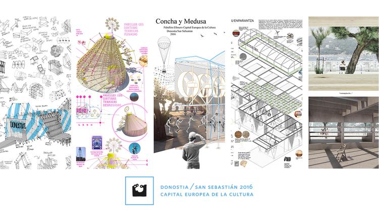 Cinco proyectos preseleccionados para un punto de información para San Sebastián 2016, Los cinco proyectos preseleccionados para San Sebastián 2016. Image