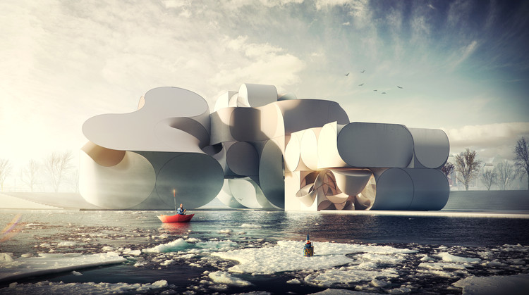 The Whole Building's a Stage in This Conceptual Cirque du Soleil Theatre Design , Courtesy of Flying Architecture