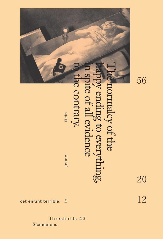 """Sex and Real Estate, Reconsidered: What Was the True Story Behind Mies van der Rohe's Farnsworth House?, Cover of Thresholds 43: """"Scandalous"""". Image © Courtesy of Thresholds"""