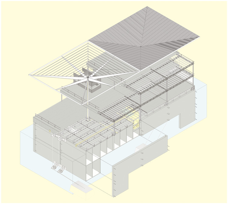 Archivo: Axonométricas, Tecnología constructiva. Image Cortesia de Estudio mono
