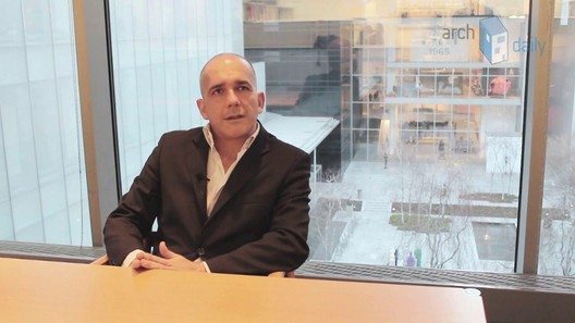 Pedro Gadanho during an ArchDaily interview in 2013. Image © ArchDaily