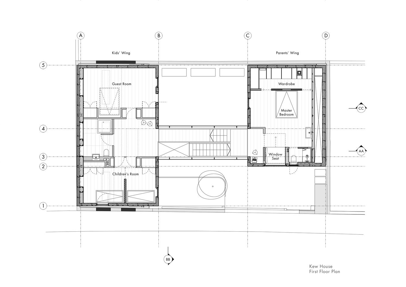 План дома с четырьмя спальнями от Piercy&Company