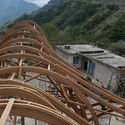 Roof Under Construction. Image Courtesy of dEEP Architects