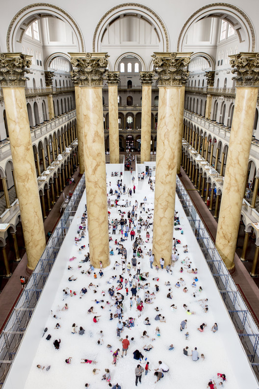 Snarkitecture Turns National Building Museum into Massive Ball-Pit , © Noah Kalina