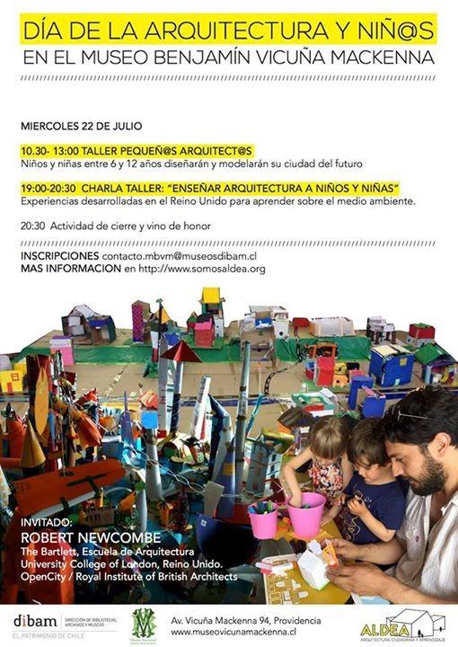 'Día de la arquitectura y niñxs' en Museo Benjamín Vicuña Mackenna / Santiago