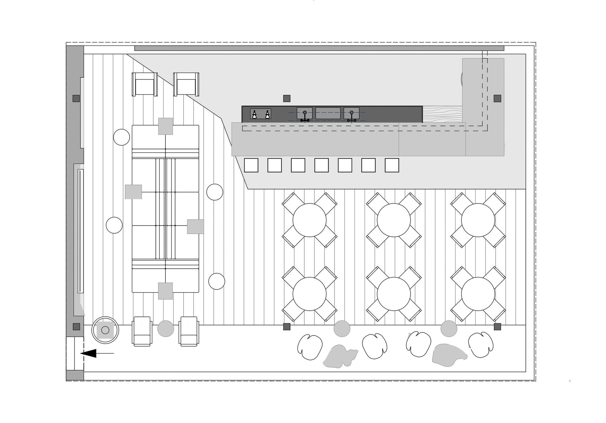 Villa Savoye Floor Plan Dwg Gallery Of Nosotros Bar Studio Otto Felix 18