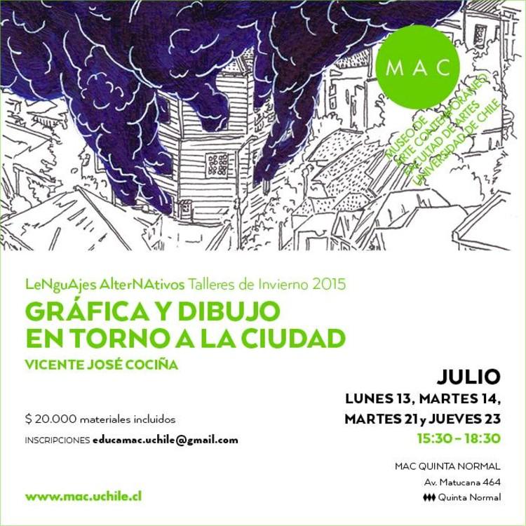 Talleres de Invierno 2015: gráfica y dibujo en torno a la ciudad / Santiago