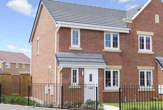 The 'Palmerston' - typical contemporary mass British housing stock. Image © Barratt Homes