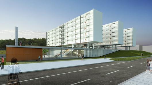 Vista do campus. Image Cortesia de Albuquerque + Schatzmann arquitetos, Diego Tamanini, Felipe Finger
