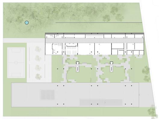 Planta dos pilotis. Image Cortesia de Albuquerque + Schatzmann arquitetos, Diego Tamanini, Felipe Finger