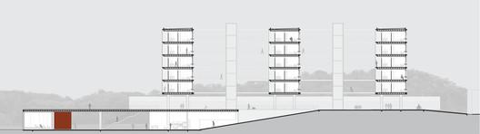 Corte transversal. Image Cortesia de Albuquerque + Schatzmann arquitetos, Diego Tamanini, Felipe Finger