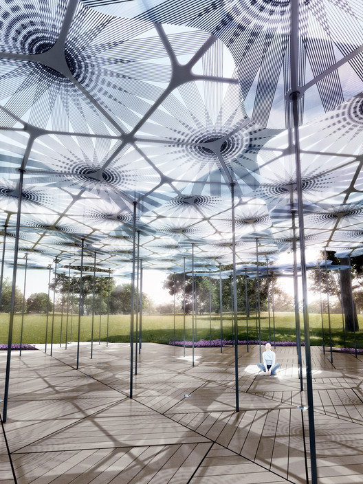 Amanda Levete's MPavilion Inspired by Forest Canopy, © AL_A