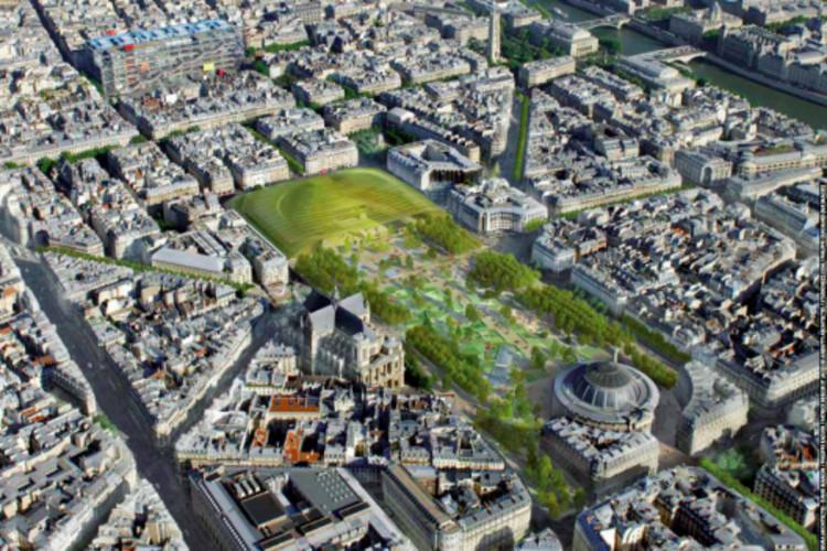 """Las 5 iniciativas para remodelar Les Halles y darle a París un nuevo sector metropolitano, Fuente imagen: """"Les Halles, el nuevo corazón de París""""."""