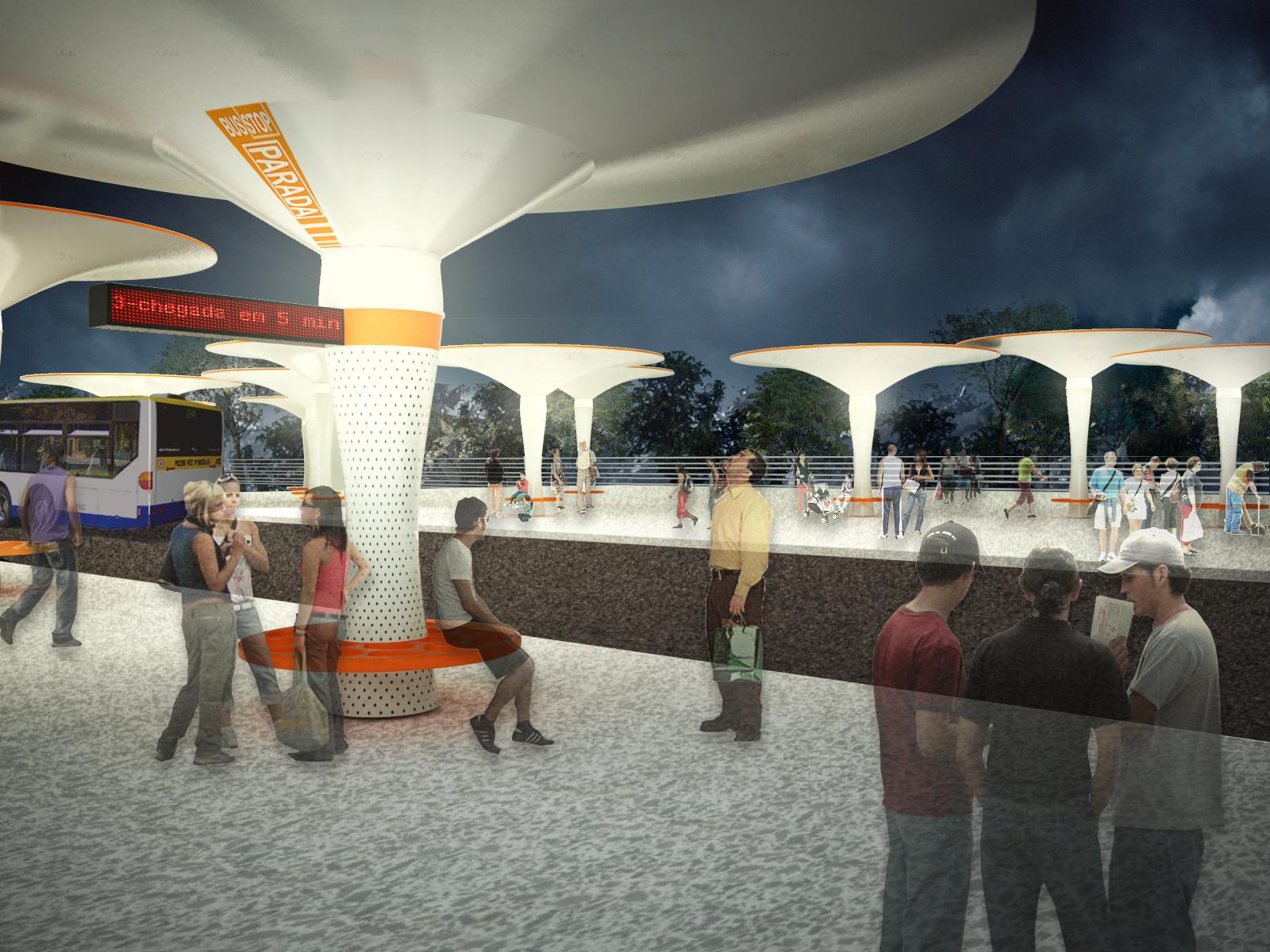 mobiliario jardim jumbo:Studio Lauria propõe mobiliário urbano que gera energia e armazena