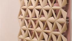 Elementos constructivos cobran vida con este inovador material inspirado en las piñas