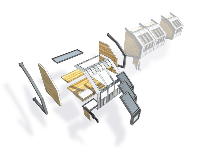 Exploded Axonometric. Image Courtesy of James Furzer