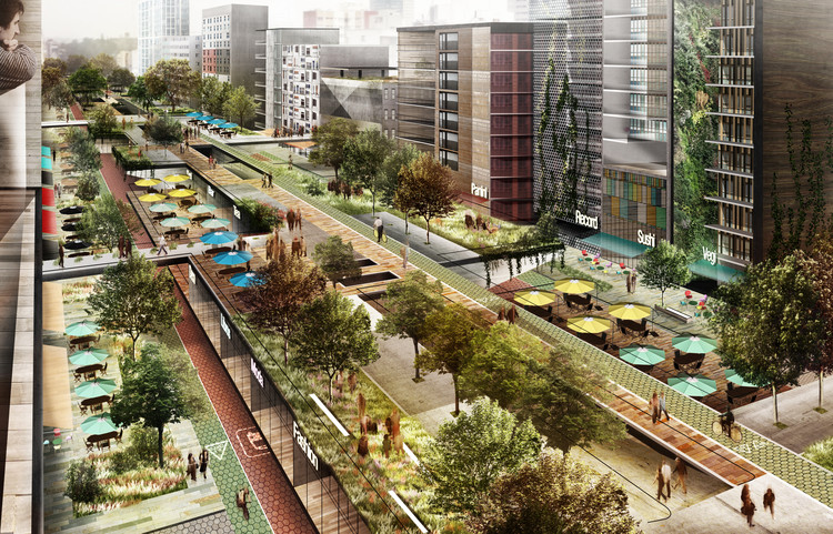 Project for an Elevated Park in Chapultepec, Mexico