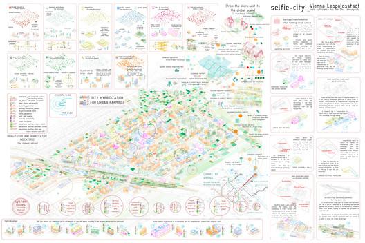 Prancha do projeto Selfie City. Imagem via Social Cooperation Architects