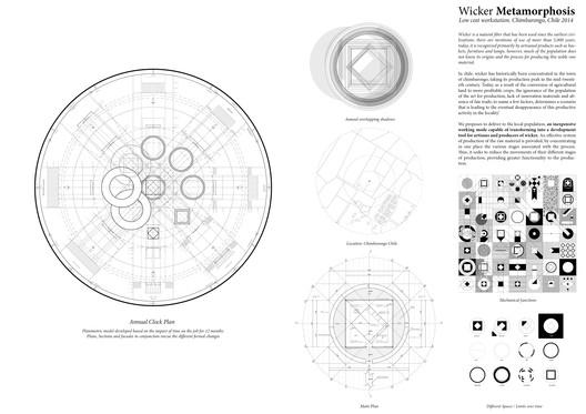 Prancha do projeto Wicker Metamorphosis. Imagem via Social Cooperation Architects