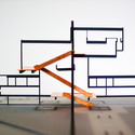 Diagrammatic model by AMO of the 1970 Osaka pavilion by Carel Weeber and Jaap Bakema. Image © AMO