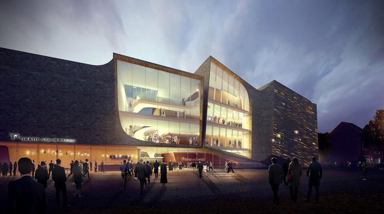 Diseño de UNStudio para el Den Bosch Theatre es seleccionado por votación pública, Vooraanzicht. Imagen © ViewPoint