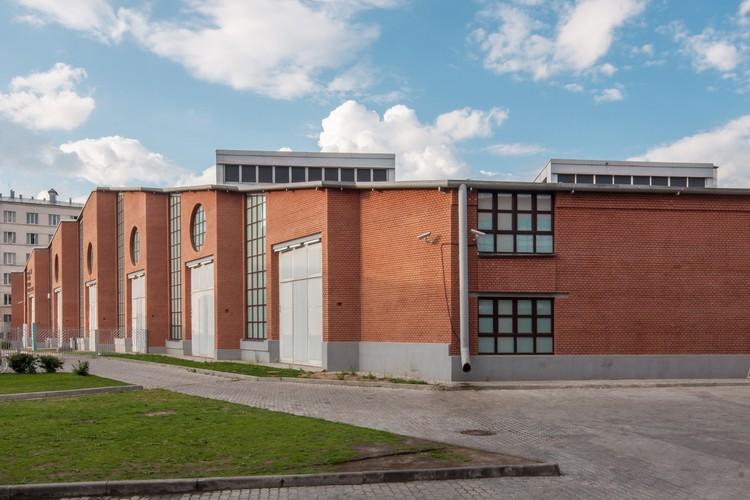 Garage de Buses Bakhmetevsky (1926) / Konstantin Melnikov. Imagen © Denis Esakov