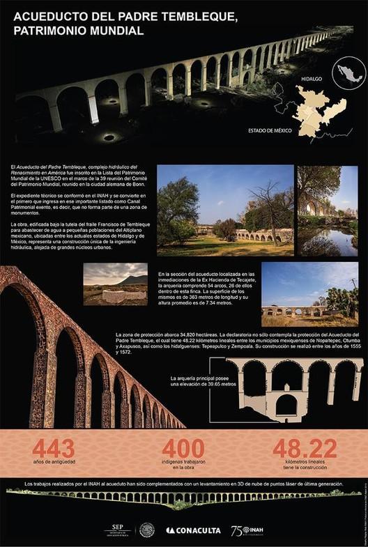 Vía Twitter. #Infografía: Acueduto del Padre Tembleque, #PatrimonioMundial por la @UNESCO_es