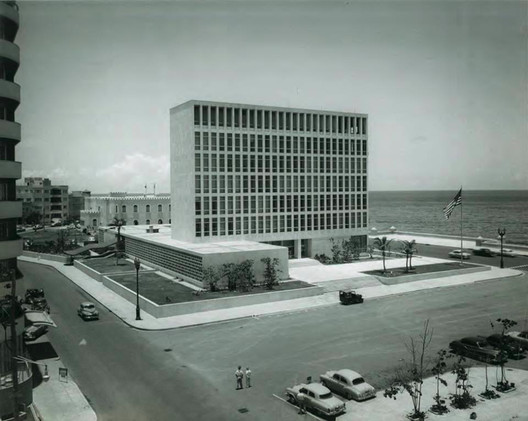 Completed in 1953, the U.S. Embassy in Havana was a defining project of midcentury American modernism