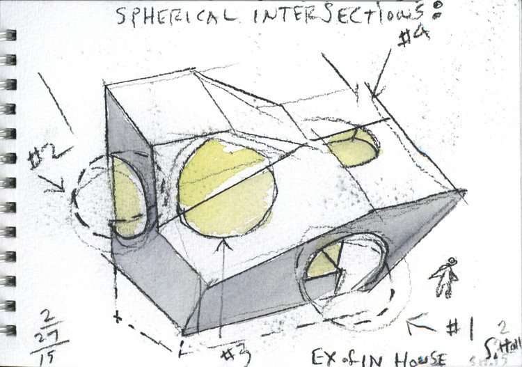 Watercolour Sketch. Image Courtesy of Steven Holl Architects