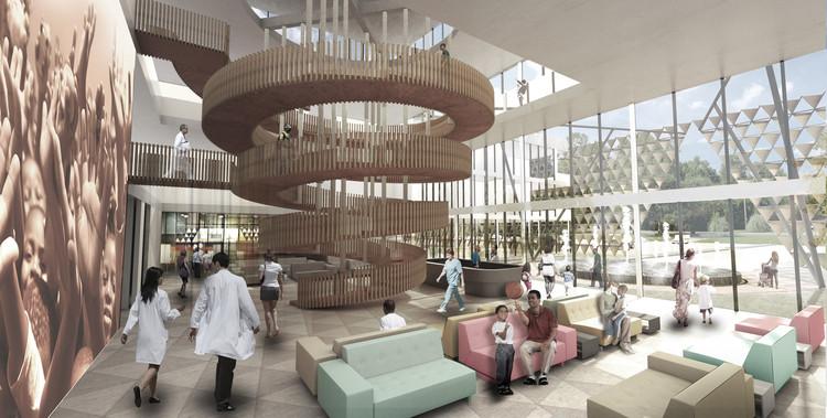 Lobby. Image Courtesy of Adjaye Associates
