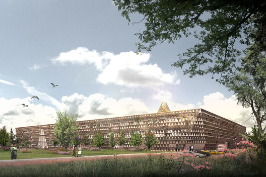Full Building Exterior. Image Courtesy of Adjaye Associates
