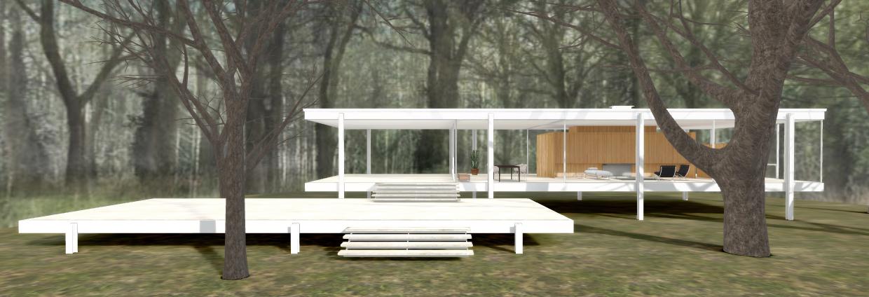 Una mirada virtual a la casa farnsworth de mies van der - Casa farnsworth ...