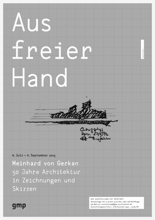"Exhibition: ""Lines of Thoughts"" Meinhard von Gerkan - 50 Years of Architecture in Sketches and Drawings"
