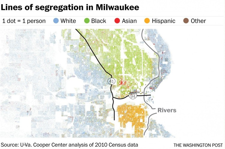 How Infrastructure Segregates Cities, via The Washington Post