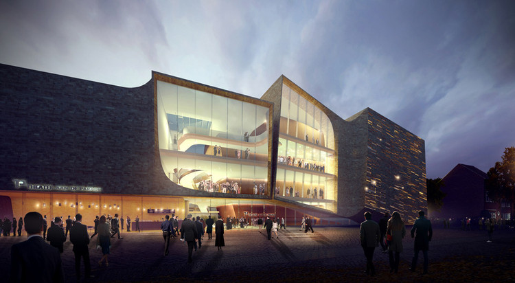 UNStudio's design for a theatre in Den Bosch, the Netherlands was selected in July thanks to support from 57% of the public voters. Image © UNStudio