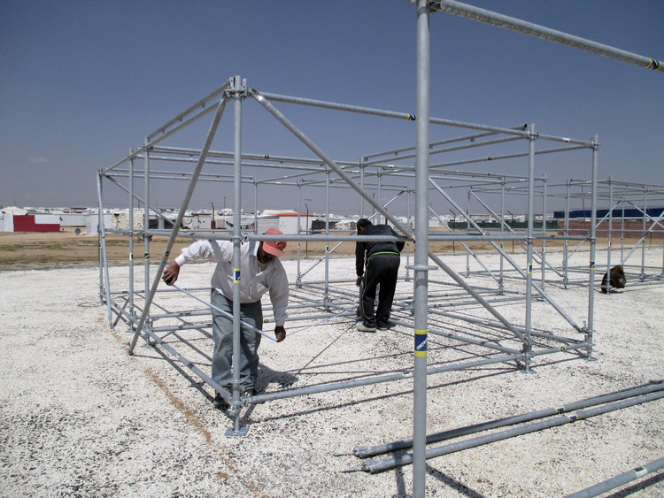 Za'atari Refugee Camp, Jordan. Image Courtesy of Pilosio Building Peace
