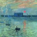 "The design inserted into Monet's ""Soleil Levant"". Image Courtesy of Alberto Campo Baeza"