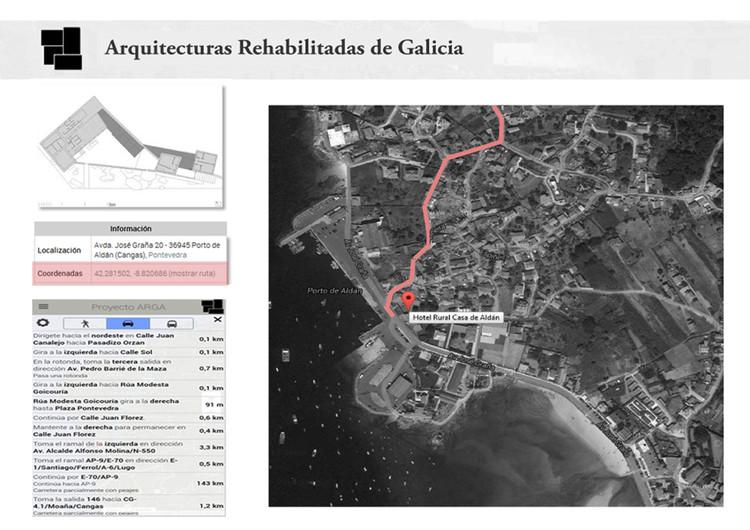 Captura de pantalla de la web de un ejemplo de geolocalización. Image © Proxecto ARGA