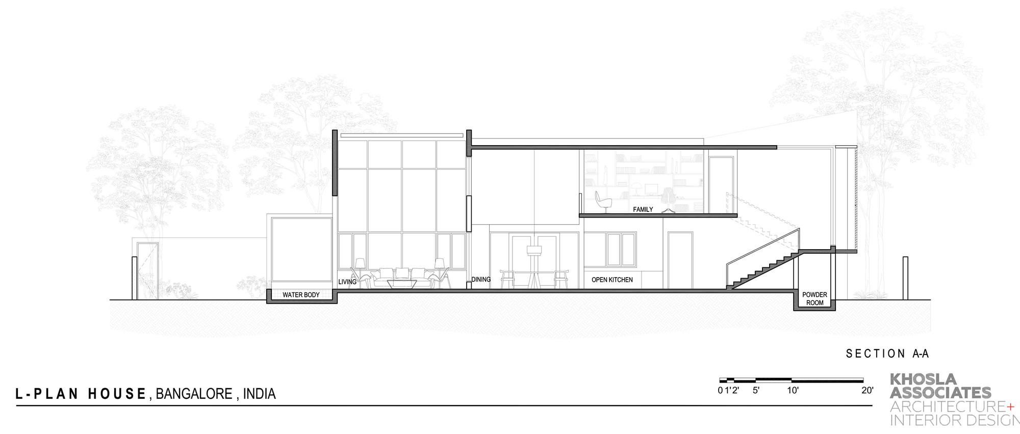 Gallery Of L Plan House Khosla Associates 21