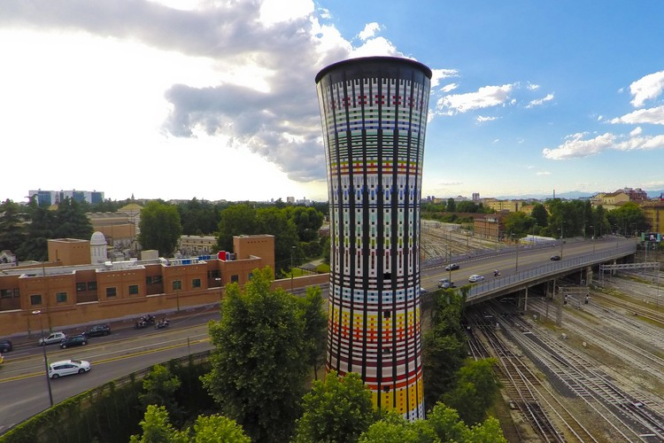Milan Restores Famous Rainbow Tower Tiles, Courtesy of Studio Original Designers 6R5 Network