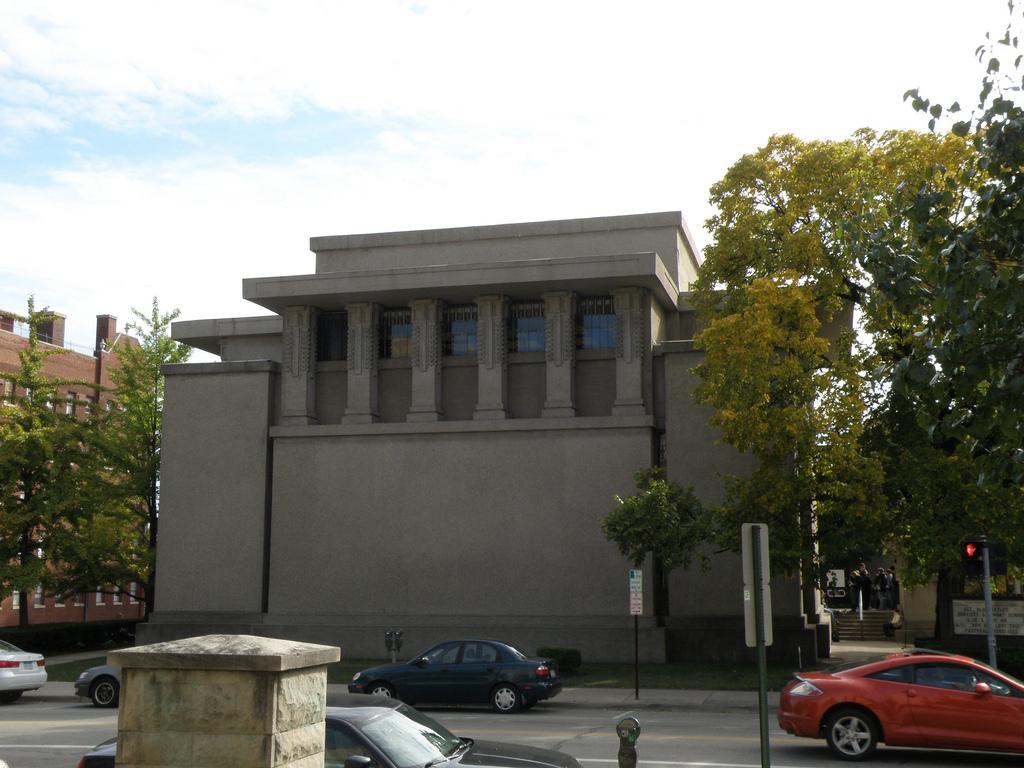 frank lloyd wright 39 s unity temple undergoes massive. Black Bedroom Furniture Sets. Home Design Ideas