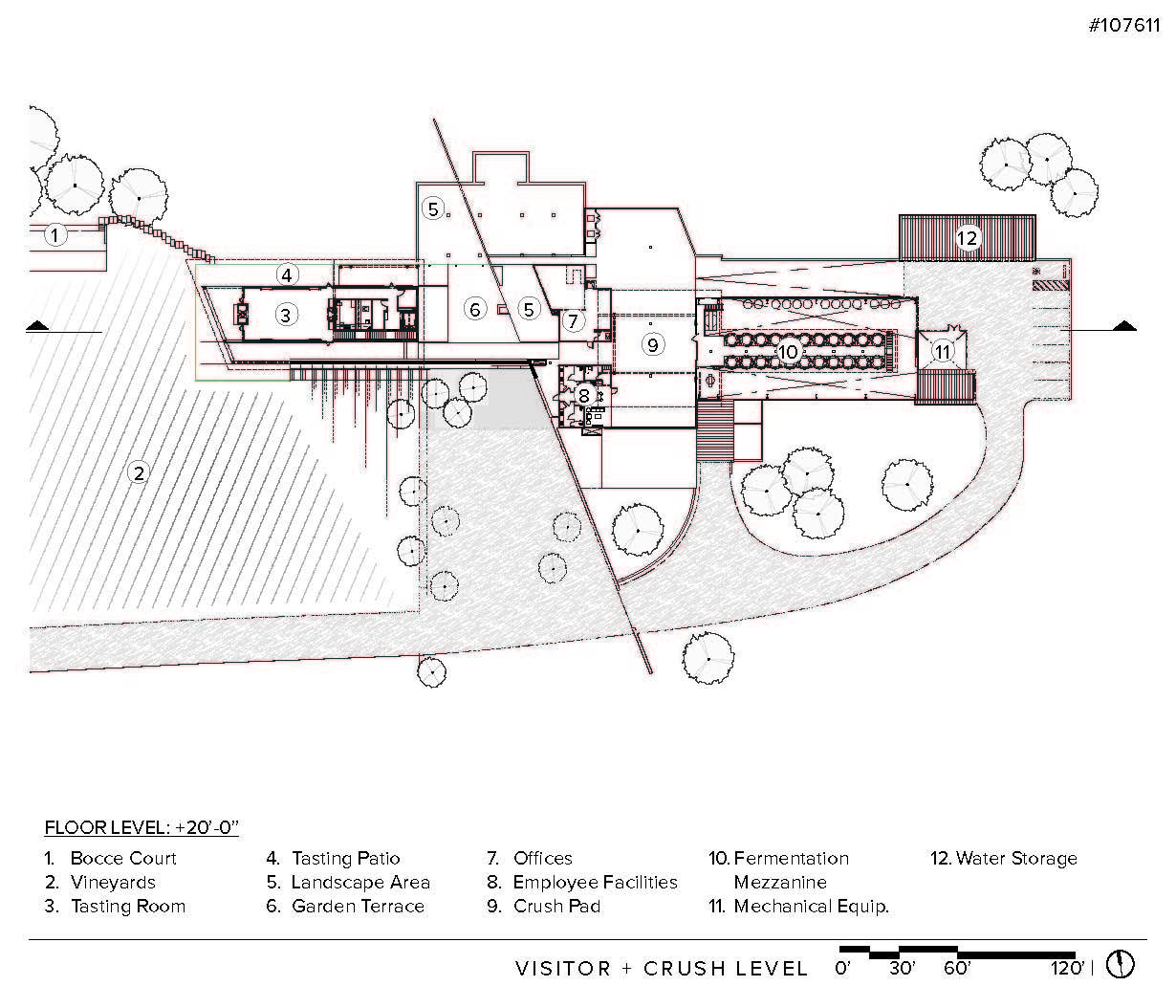 Gallery of law winery bar architects 27 for Winery floor plans by architects