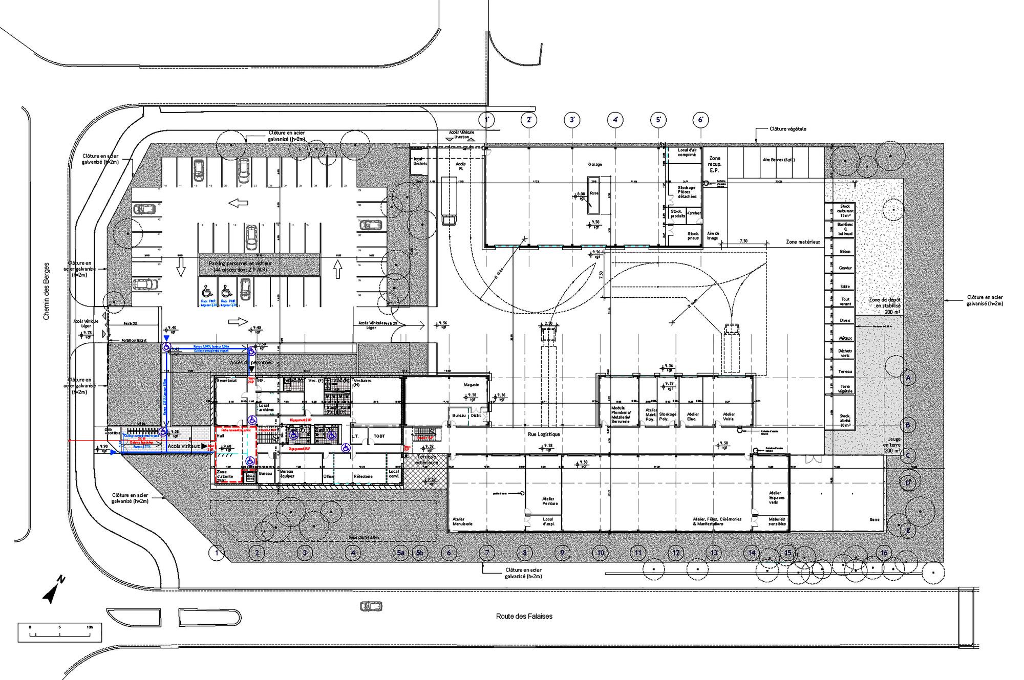 gallery of municipal technical center studios first floor plan townhall leeds historical interiors