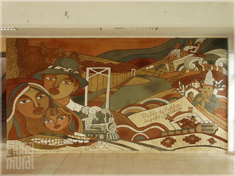 """""""Murales de Tierra en el Maule"""": la visualización del Patrimonio a través de oficios tradicionales, MURAL LICANTÉN. Image © Consuelo Miranda"""
